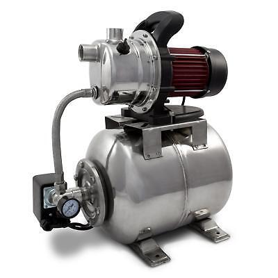 1200 Watt Hauswasserwerk Edelstahl 3800 l/h Gartenpumpe Wasserpumpe Pumpe 48 m