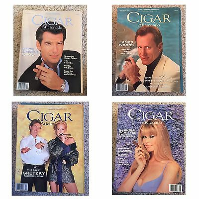 4 issues of 1997 Cigar Aficionado magazine. Gretzky, Woods, Brosnan, Schiffer