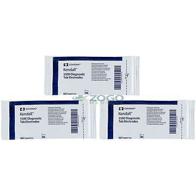 Covidien 30807732 Kendall 5000 Diagnostic Tab Ecg Electrodes -100pk - Pack Of 3