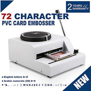 72 character manual embossing printer credit cardidvippvc embosser machine - Credit Card Printer