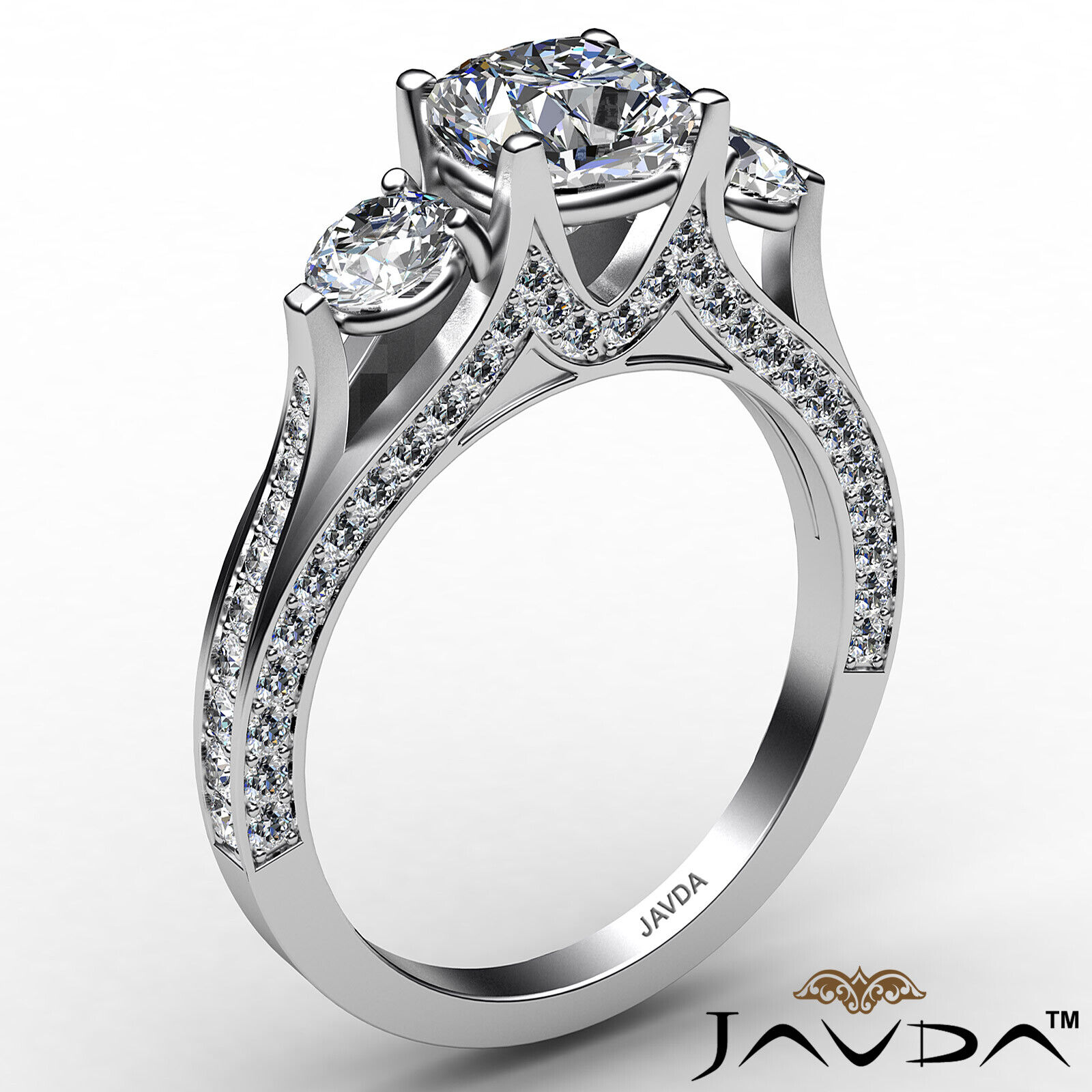 Cushion Diamond Engagement Ring Certified by GIA E Color & VVS1 clarity 2.1 ctw 3