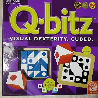 Q-Bitz Brain Teaser Game ~ Game To Train The Brain! Three Ways to Play- MindWare](Q Bitz)