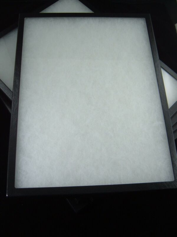 "four jewelry display case riker mount display box collectors box 12 X 16 X 7/8"""