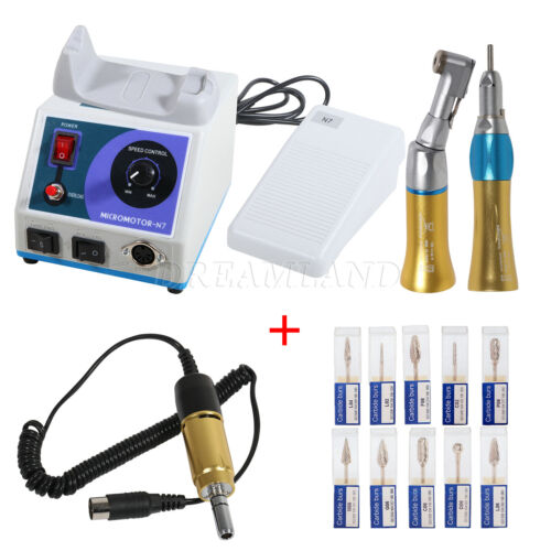 Dental Lab Marathon 35K Electric Micromotor N7/ Contra Angle Straight Handpiece