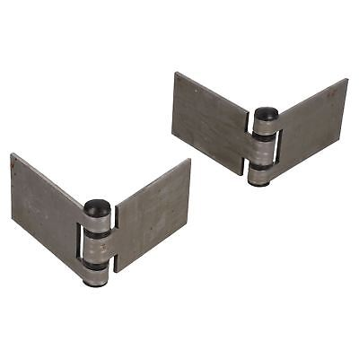 Large Weld-on Hinge Heavy Duty 160x50mm Industrial Door Hatch Locker 2pk