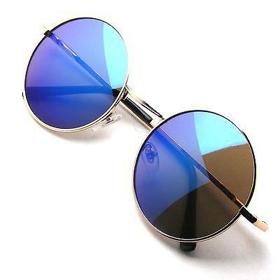 John Lennon Sunglasses Round Hippie Shades Retro Reflective Colored Lenses (Hippie Shades)