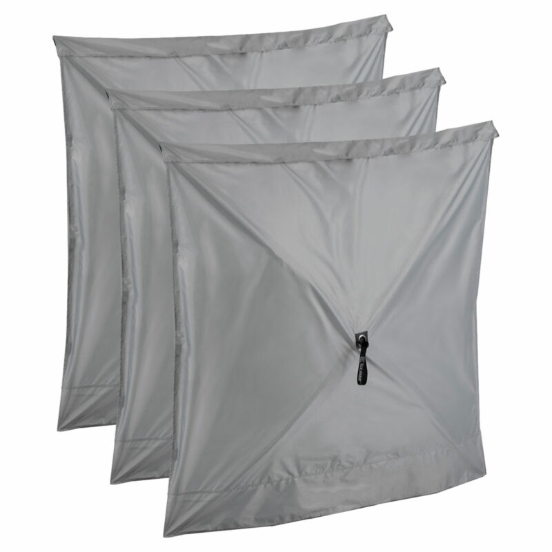 CLAM Quick-Set Screen Hub Tent Wind & Sun Panels, Accessory Only, Gray (3 pack)