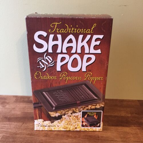 Traditional Shake and Pop Outdoor Popcorn Popper Maker Campf
