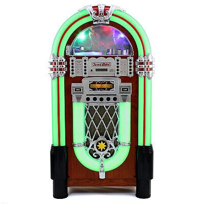 Tocadiscos Retro Años 50 Jukebox Vintage para CD, USB con Radio Pantalla...