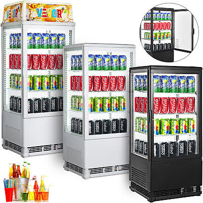 Commercial Refrigerated Display Case Beverage Display Refrigerator Glass Door
