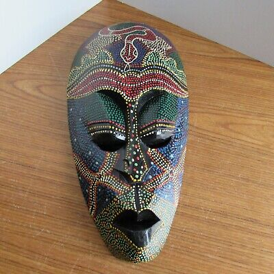 13 in Aboriginal Painted face mask