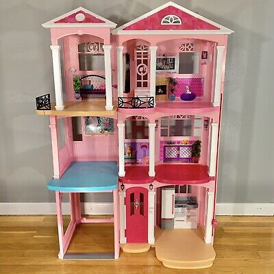 2015 Mattel Barbie Doll 3 Story DreamHouse Dream House TownHouse 4 Feet Tall