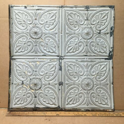 "1pc 24"" x 24"" Full Piece Antique Ceiling Tin Vintage Reclaimed Salvage Art Craft"