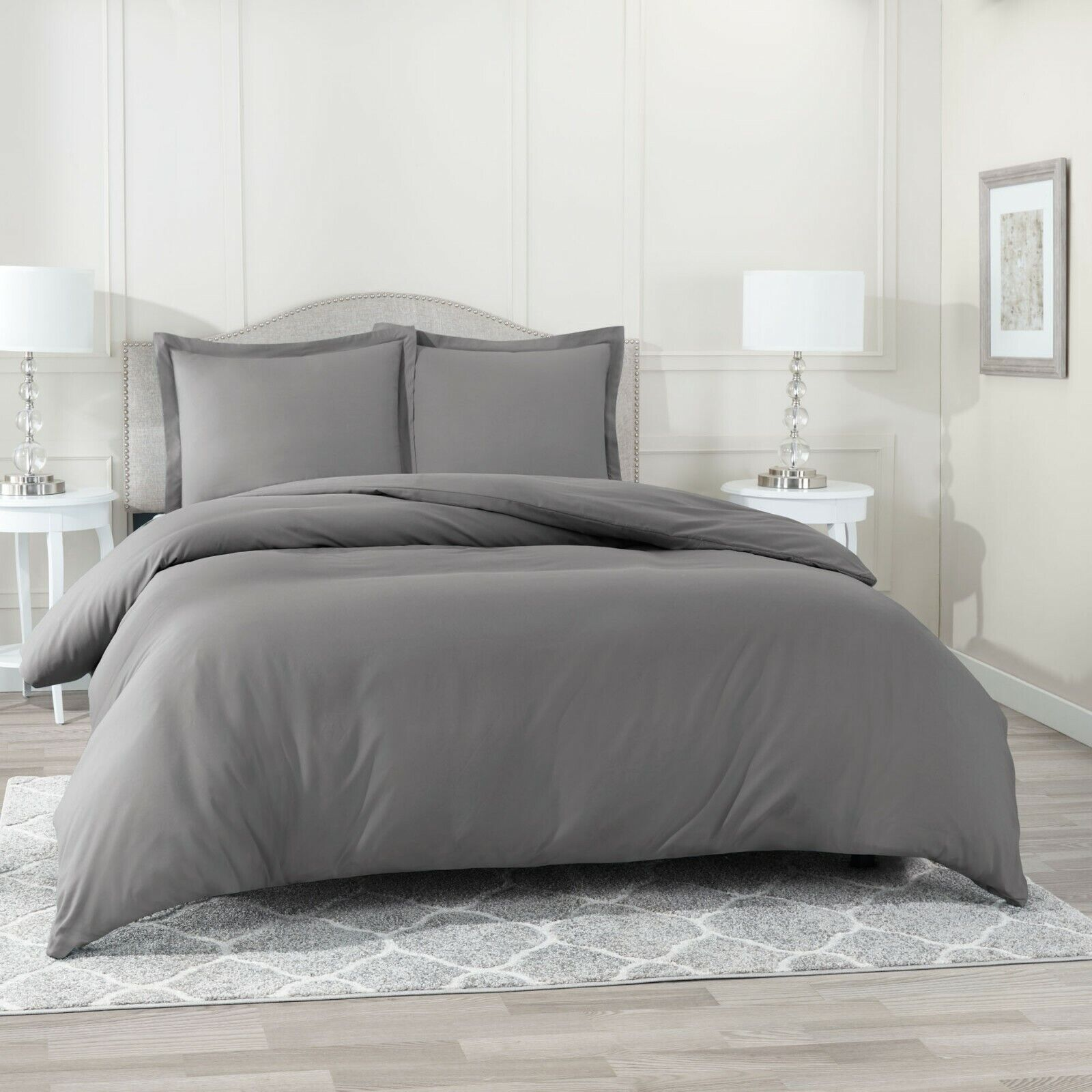 QUEEN DUVET COVER AND SHAMS 1500 COUNT SERIES -  12 Beautifu