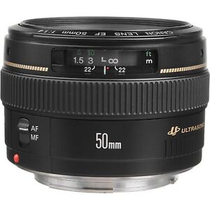 Lens canon 50mm f/1.4