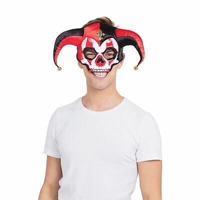 Adult Kids Jester Skull Skeleton Zombie Clown Jester Carnival Festival Face Mask - Child Jester Costume