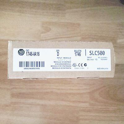 Factory Sealed Allen Bradley 1746-ia16 Ser D Slc 500 Input Module Plc New In Box