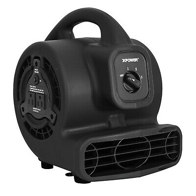 Xpower P-80a600 Cfmlow 1.2 Amp Mini Air Mover Carpet Dryer Floor Blower-black
