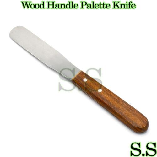 "8"" Medium Wood Handle Stainless Steel Palette Knife"