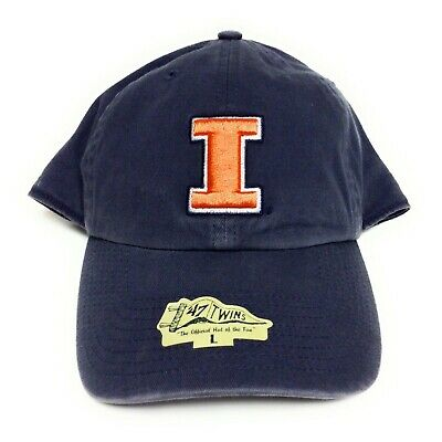 Mens '47 Twins Illinois Fighting Illini NCAA The Franchise Blue Orange Hat (Illinois Fighting Illini Cap)