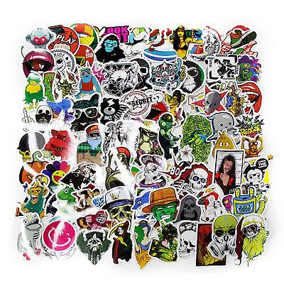 100 X Random Vinyl Decal Graffiti Sticker Waterproof Bomb Skate Laptop Stickers