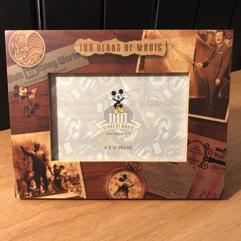 "Vintage Disney World 4""x6"" 100 Years Of Magic Photo Frame - NIB"