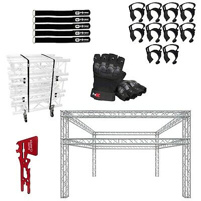 Global Truss 20x20 Double Tier F34 Truss Lighting Trade Show Booth Package