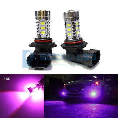 2x Pink HB4 9006 LED Bulbs 15W SMD 5730 High Bright Fog Light DRL + Projector