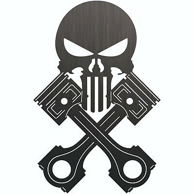 Punisher Pistons Dxf Cnc Sign For Plasma Laser Waterjet Router Plotter Cut File