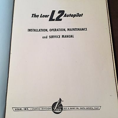 Lear L2  Autopilot Install, Operation & Service Manual