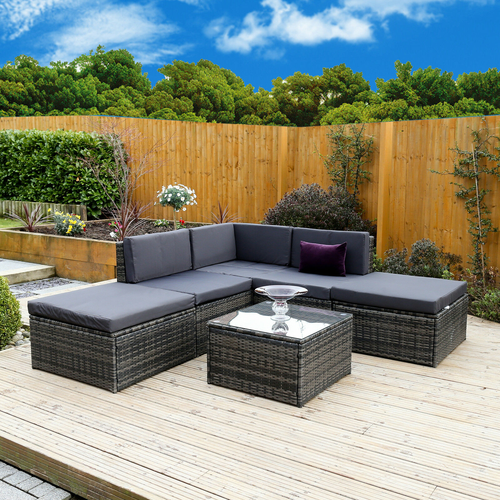 Rattan Furniture Corner Sofa Ebay