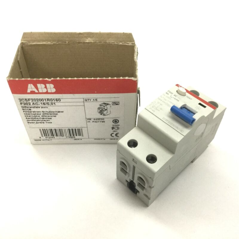 ABB 2CSF202001R0160 Lifesaver Differential Switch, 2-Pole, Rating: 230VAC 16A