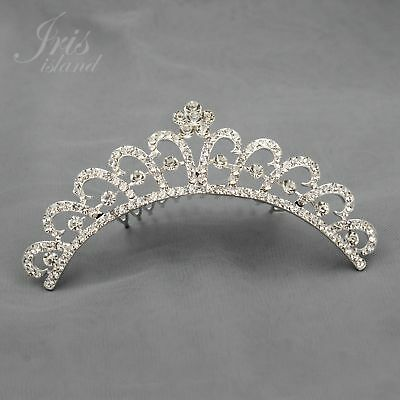 Child Tiara - Austrian Crystal Rhinestone Tiara Crown Comb Girl Kid Bridal Wedding Prom 05365