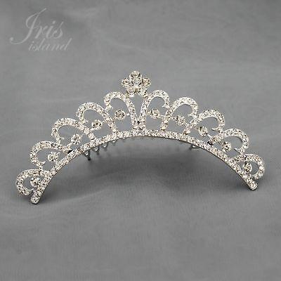 Austrian Crystal Rhinestone Tiara Crown Comb Girl Kid Bridal Wedding Prom 05365