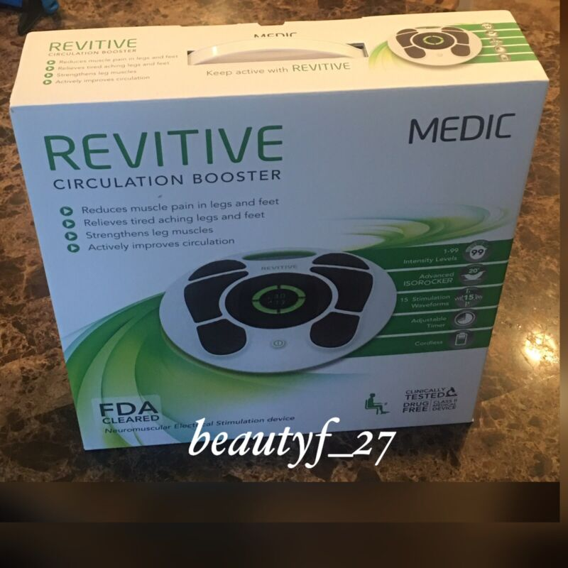 NEW! Revitive MEDIC Circulation Booster With Blanket 4 Body Pads, Foot Leg Cream