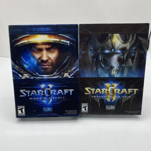 Computer Games - STARCRAFT II Wings Of Liberty & Legacy Of The Void Lot Of 2 PC Computer Games