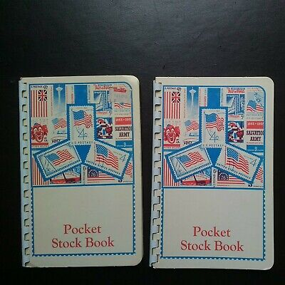 STAMP COLLECTOR * POCKET STOCK BOOKS (PERFORATION GAUGE on BACK) *Ca. LATE 1960s