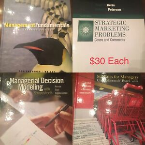 Business Textbooks $30 each OBO