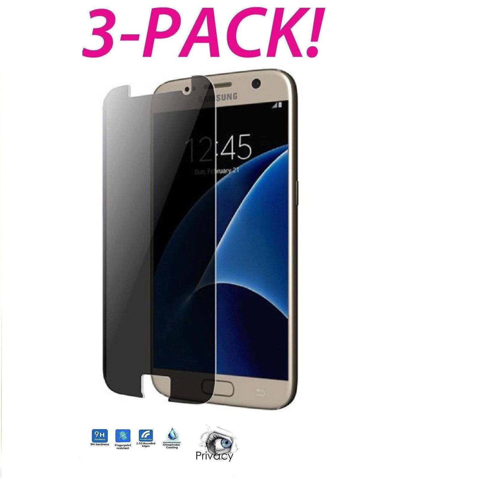 Privacy Anti-Spy Tempered Glass Screen Protector for Samsung Galaxy S7 Cell Phone Accessories