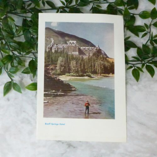 """Vintage 1952 BANFF Canadian Pacific Springs Hotel Quality Paper Menu 9.75"""""""