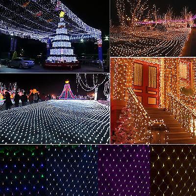 3M*2M Rideau Lampe chaîne Guirlande lumineuse net de Noël Xmas ...