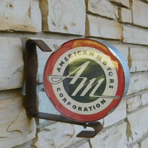 American Motors AMC AM logo emblem miniature wall post service Sign USA made