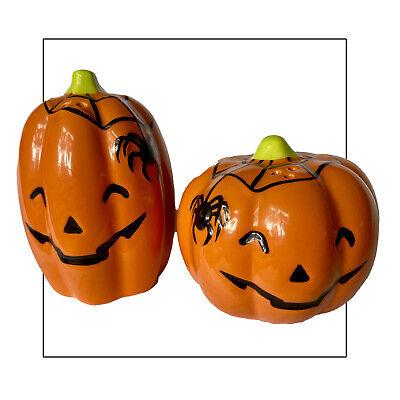 Retro Halloween Pumpkin Salt And Pepper Shakers