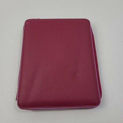 Franklin Covey 365 Pink Classic Planner Slim Binder Agenda Organizer 7-ring Snap