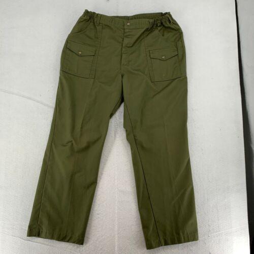 Boy Scout Mens Elastic Waist Official Uniform Cargo Pants Olive Green Size 40