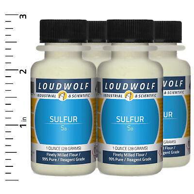 Sulfur 4 Oz Total 4 Bottles Reagent Grade Finely Milled Flour Usa Seller