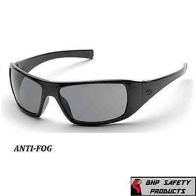 SAFETY GLASSES PYRAMEX GOLIATH SMOKE ANTI FOG LENSES SUNGLASSES MOTORCYCLE Z87+