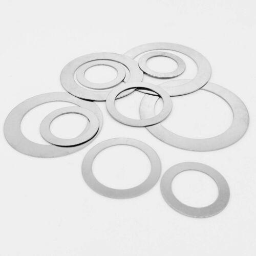 10/50X M2-M40 Stainless Steel Ultra Thin Flat Washer Ultrathin Shim Plain Gasket