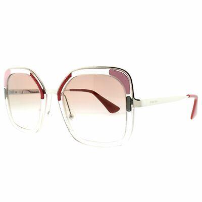 Prada Miu Miu PR 57US LOH1L0 Transparent Full Rim Women 100% UV Sunglasses