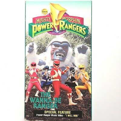Mighty Morphin Power Rangers The Wanna Be Ranger VHS Movie VCR Tape (Mighty Morphin Power Rangers The Wanna Be Ranger)